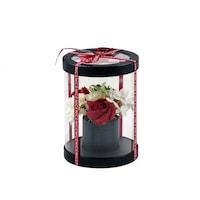 BoxEnjoy - szappan rózsacsokor fekete henger dobozban