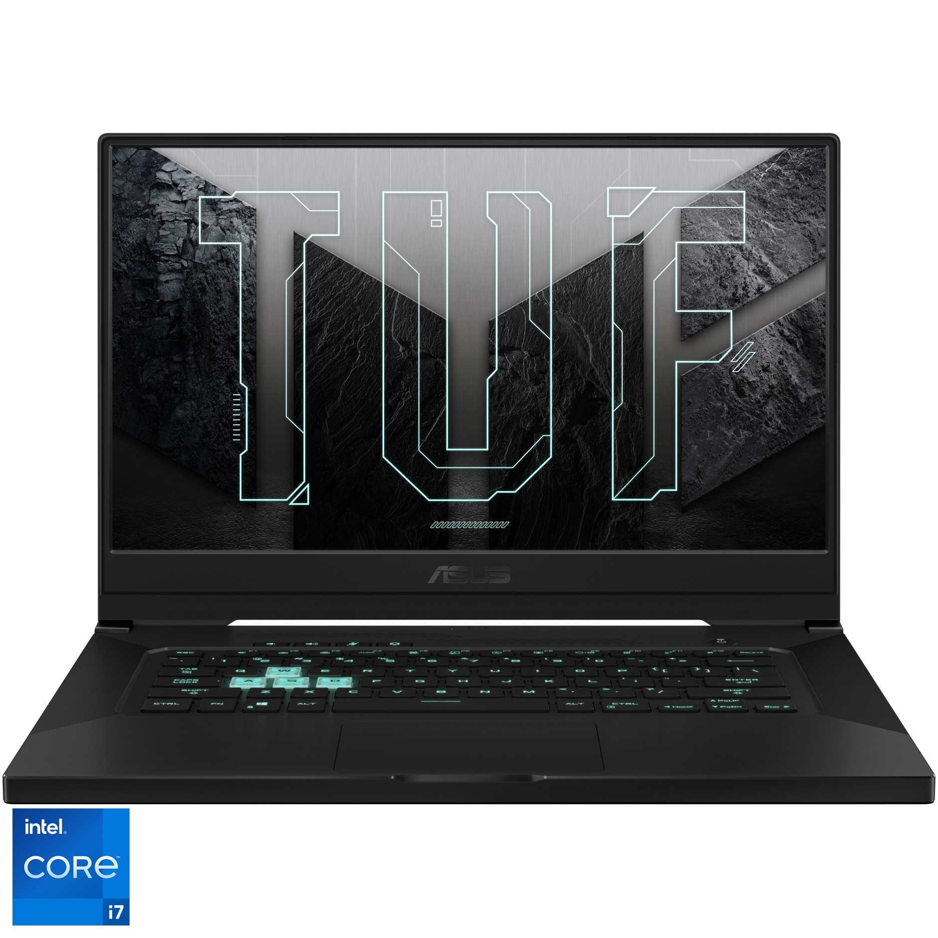 "Fotografie Laptop Gaming ASUS ASUS TUF Dash F15 FX516PR cu procesor Intel® Core™ i7-11370H pana la 4.80 GHz, 15.6"", Full HD, 240Hz, 16GB, 1TB SSD, NVIDIA® GeForce RTX™ 3070 8GB, Free DOS, Eclipse Gray"