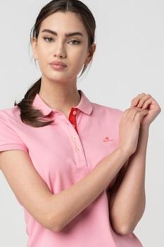 Gant, Galléros póló hímzett logóval, Rózsaszín/Piros