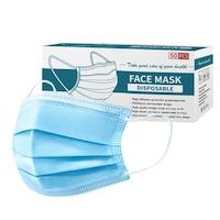 Комплект маски, трислойни, За еднократна употреба, Син, 2000 бр.