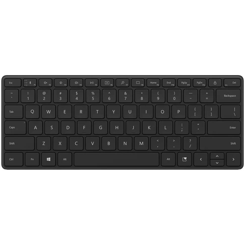 Fotografie Tastatura wireless Microsoft Designer Compact, Bluetooth 5.0, Negru