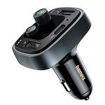 Remax Bluetooth FM-transmitter-4,8A 2USB/USB-C autós töltő RCC230 - Fekete