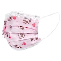 Детски Маски Flippy Pink Panda, Еднократни, 3 Слоя, 3 Гънки, Ефективна Филтрация, 50 бр
