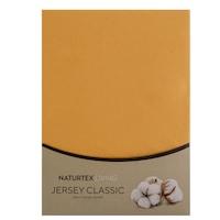 Naturtex 100% Pamut Jersey Gumis Lepedő, 180-200x200 Cm, Kukoricasárga