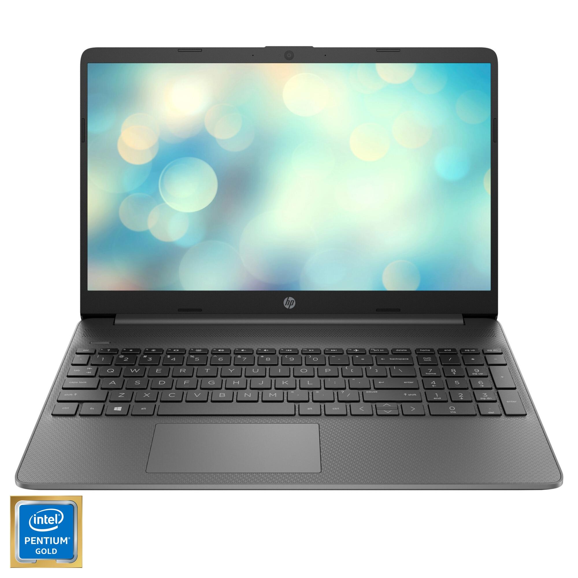 """Fotografie Laptop HP 15s-fq2044nq cu procesor Intel Pentium Gold 7505 pana la 3.50 GHz, 15.6"""", Full HD, 8GB, 256GB SSD, Intel UHD Graphics, Free DOS, Chalkboard gray"""