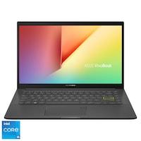 "Laptop ultraportabil ASUS VivoBook 14 K413EA cu procesor Intel® Core™ i5-1135G7 pana la 4.20 GHz, 14"", Full HD, 8GB, 512GB SSD, Intel Iris Xᵉ Graphics, Free DOS, Indie Black"
