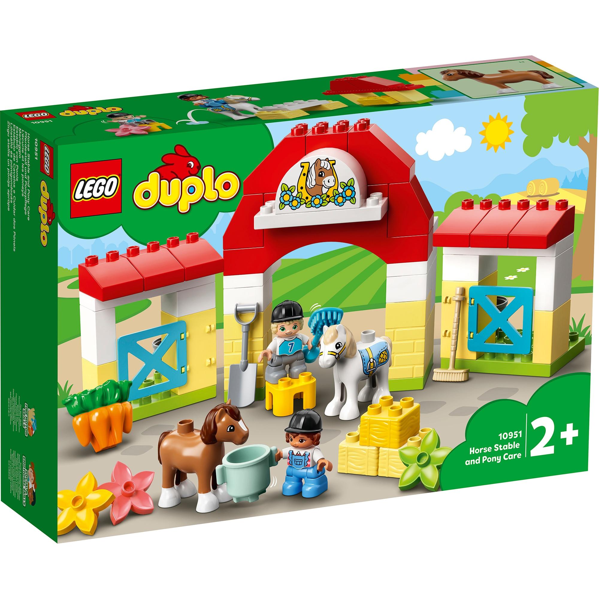Fotografie LEGO DUPLO - Grajdul poneilor 10951, 65 piese