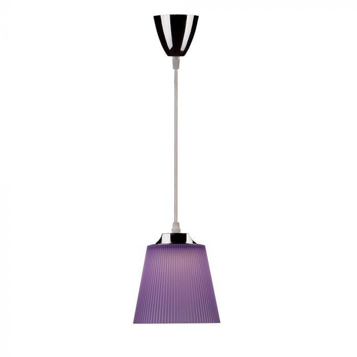 Fotografie Pendul LED integrat V-TAC 8504, 7W, 360 lm, lumina alba naturala (4000K), IP20, 124.1 cm, Crom/Violet