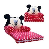 Mickey Mouse Plüss fotel 85x45x40cm, Fekete/ Piros/Fehér