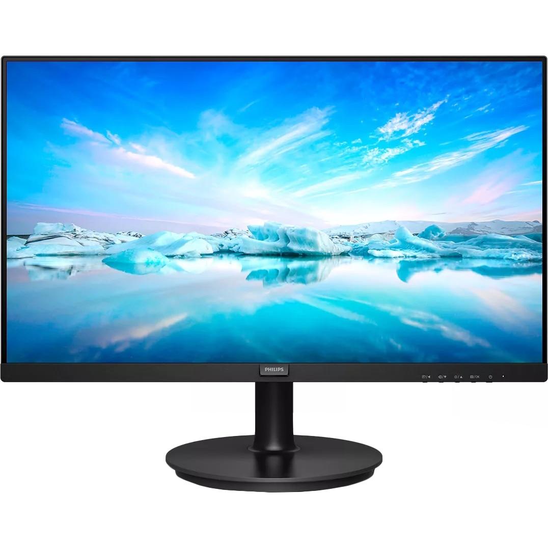 Fotografie Monitor Philips LED VA Full HD 21.5'', Full HD, 75Hz, 4ms, Adaptive Sync, Flicker Free, Display Port, HDMI, VGA, 222V8LA/00