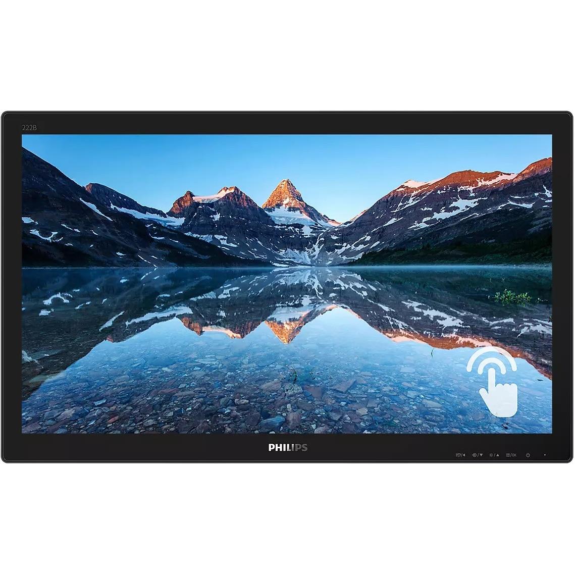 Fotografie Monitor Philips LED TN 21.5'', Full HD, 60Hz, 1ms, FlickerFree, Display Port, HDMI, DVI, USB, VGA, 222B9TN/00