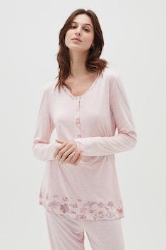 OVS, Pizsama virágmintás részletekkel, Pasztell rózsaszín, XL