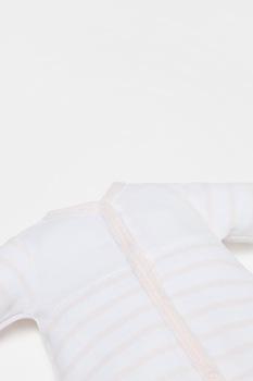 OVS, Раиран гащеризон с ританки и дълги ръкави, Бледорозов/Бял