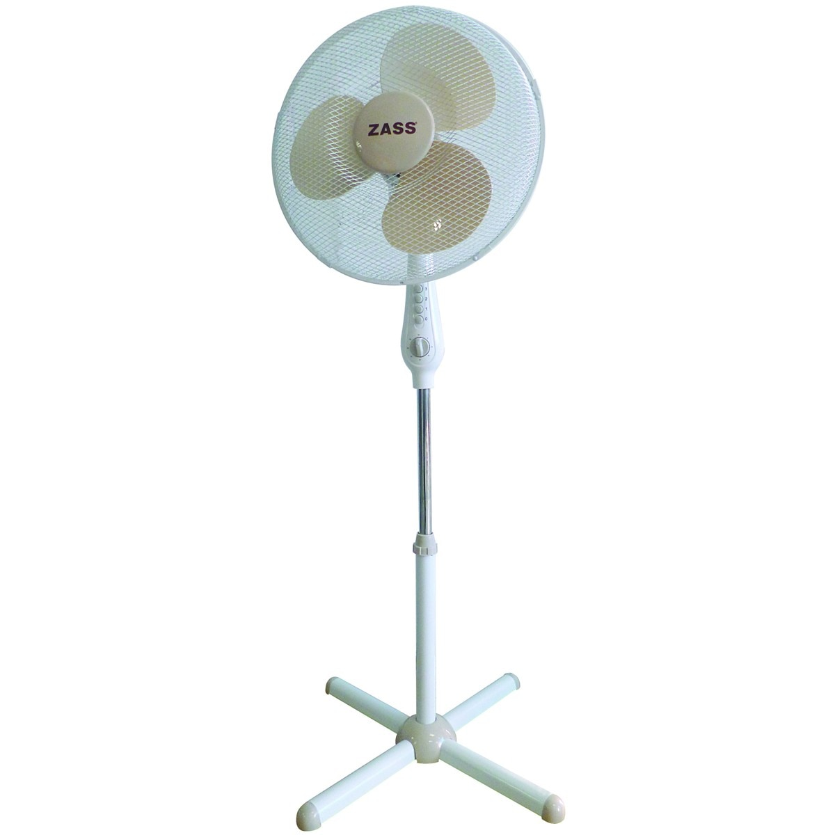 Fotografie Ventilator cu picior Zass ZFT 1602, 50W, 3 viteze, timer, 41cm diametru, Alb