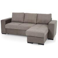 Ъглов диван Cotta Minimaxx Jazz, Разтегателен, 229x148 см, Ляв монтаж, Сив-Тъмнокафяв/Сив въглен