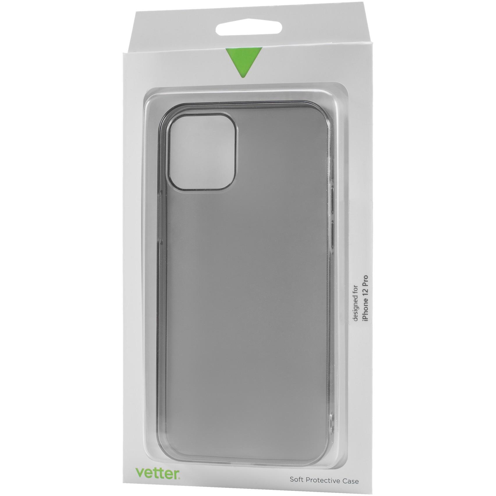 Fotografie Husa de protectie Vetter pentru iPhone 12 Pro, 12, Soft Touch Ultra Slim, Black