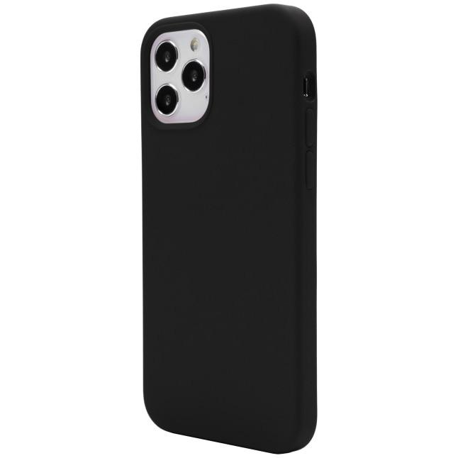 Fotografie Husa de protectie Vetter pentru iPhone 12 Pro, 12, Clip-On Soft Touch Silk Series, Black