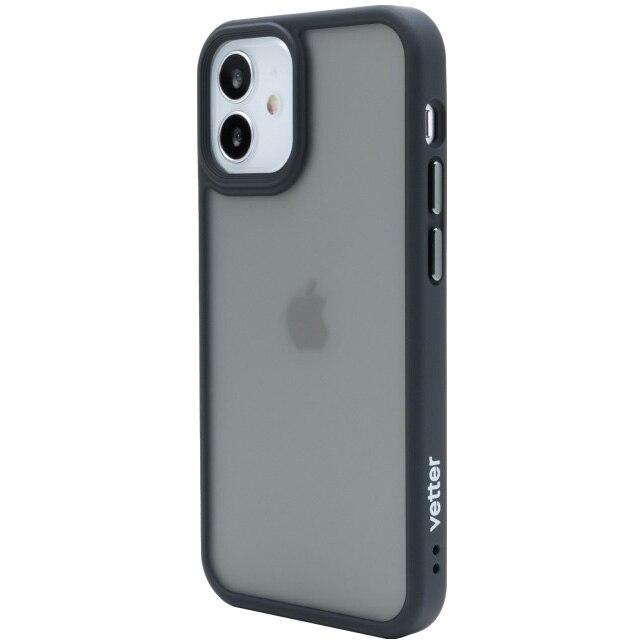 Fotografie Husa de protectie Vetter pentru iPhone 12 mini, Clip-On Hybrid, Shockproof Soft Edge and Rigid Matte Back Cover, Black
