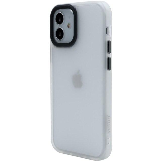 Fotografie Husa de protectie Vetter pentru iPhone 12 mini, Clip-On Hybrid, Shockproof Soft Edge and Rigid Matte Back Cover, Transparent