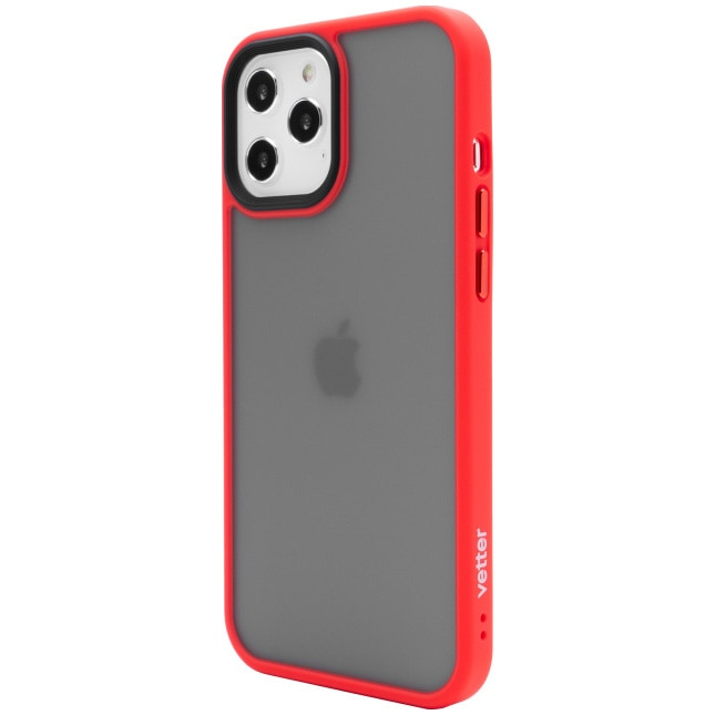 Fotografie Husa de protectie Vetter pentru iPhone 12 Pro Max, Clip-On Hybrid, Shockproof Soft Edge and Rigid Matte Back Cover, Red