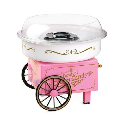 Машина за захарен памук Old Fashioned, 500W, розов / бял, ретро дизайн