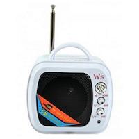 Boxa Portabila USB , Card , Radio , Model MiniTV , Alba, 2w