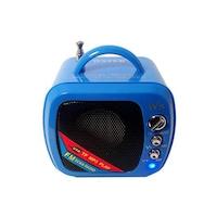 Boxa Portabila USB , Card , Radio , Model MiniTV , Albastru , 2w