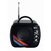 Boxa Portabila USB , Card , Radio , Model MiniTV , Negru , 2w