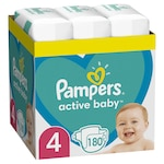 Pampers Active Baby Havi pelenkacsomag, 4-es méret, 9-14 kg,180 db