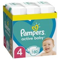 Scutece Pampers Active Baby XXL BOX, Marimea 4, 9 -14 kg, 180 buc