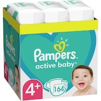 Scutece Pampers Active Baby XXL BOX, Marimea 4+, 10 -15 kg, 164 buc