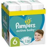 Scutece Pampers Active Baby XXL Box, Marimea 6,13 -18 kg, 128 buc