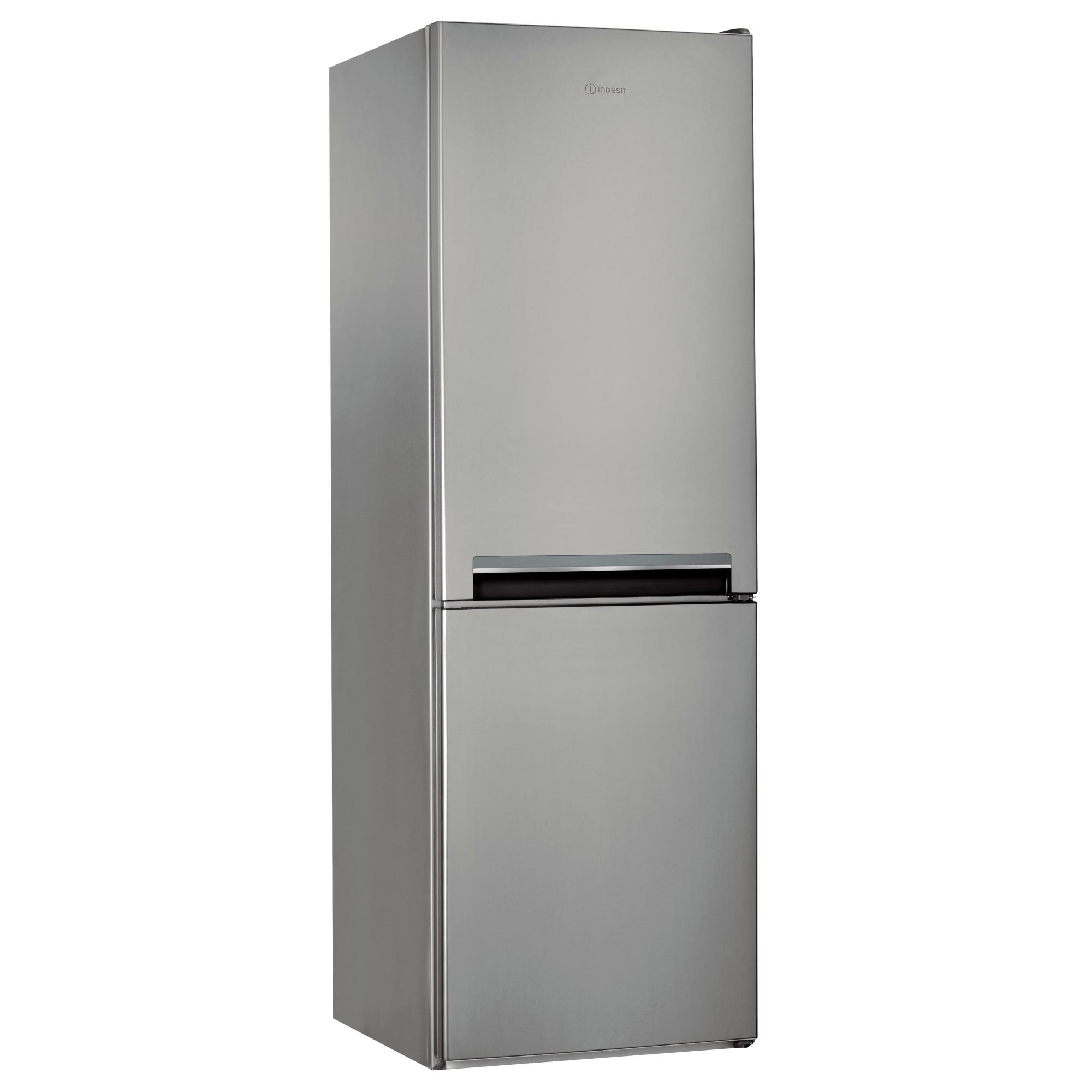 Fotografie Combina frigorifica Indesit LI7S1ES, 308 l, Clasa F, Fast cooling, Less frost, Fresh box, H 176 cm, Argintiu