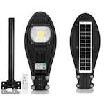 LED Соларна улична лампа COBRA, 115W , Черна + Стойка за закрепване
