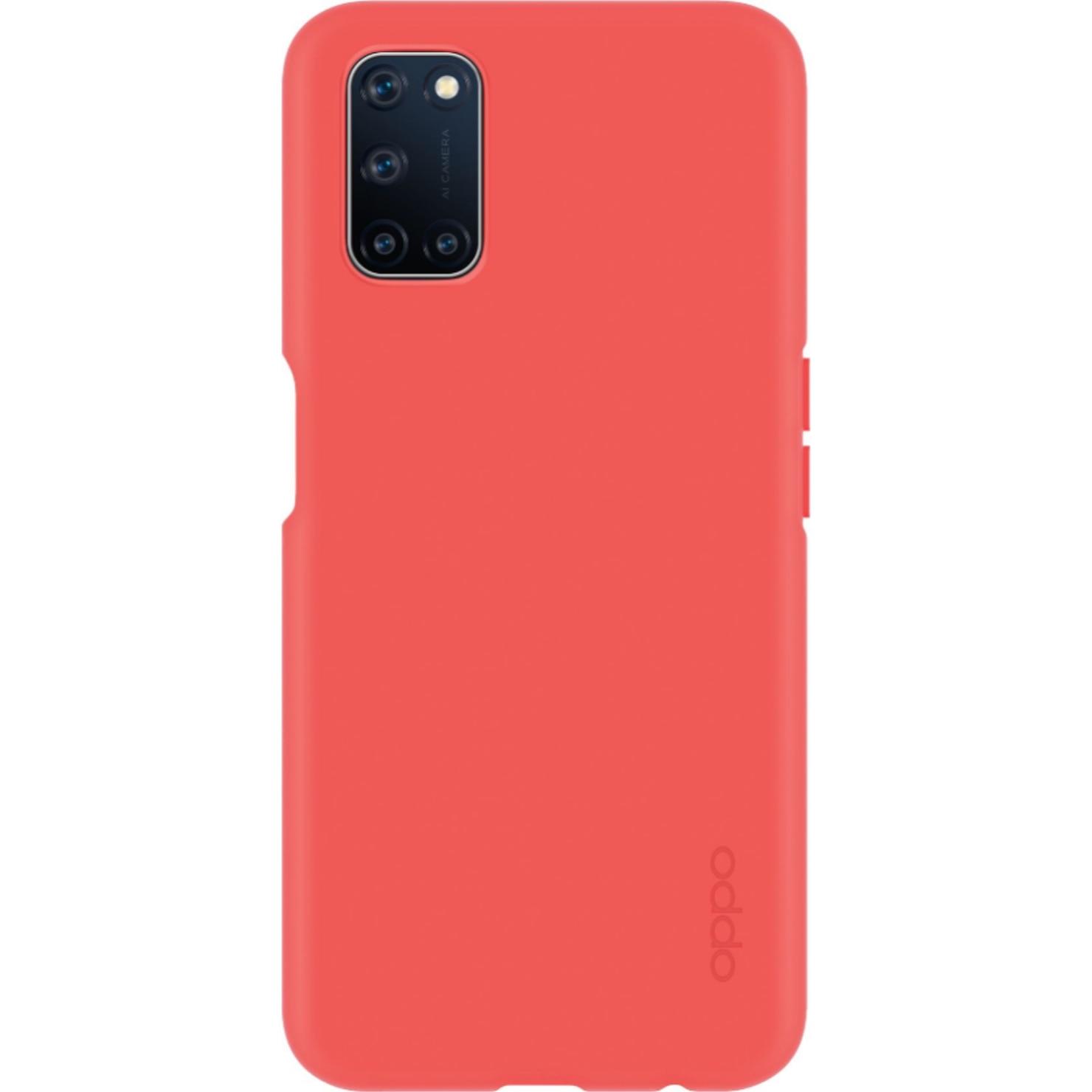 Fotografie Husa de protectie OPPO Silicone Cover pentru A72 / A52, Coral Red