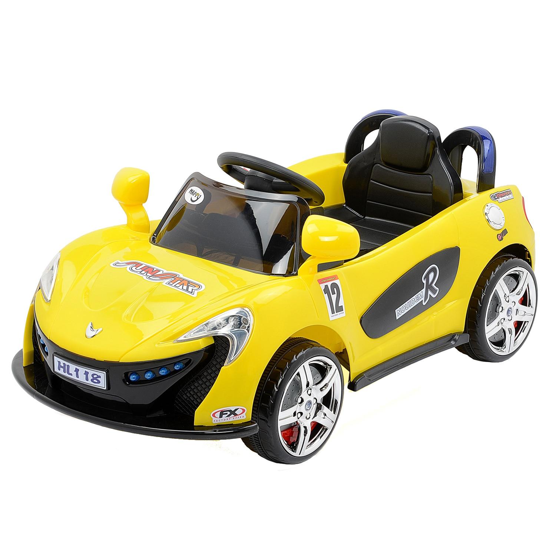 Fotografie Masinuta electrica pentru copii, cu telecomanda, Mappy, Aero Yellow