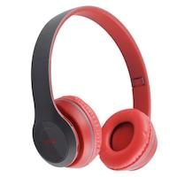 Bluetooth headset, piros, Air, P47, vezeték nélküli, mikrofon, memóriakártya, kihangosító hívás
