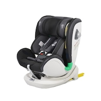 Scaun Auto Pentru Copii cu Isofix NOVOKIDS™ General Seat Plus, Model Premium, Rotire 360 grade, 0-36 kg, Cos auto, Centura de siguranta in 5 puncte, Husa detasabila, Negru