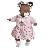 Interaktív Alicia baba pattogatott kukoricás ruhában, 38 cm, Berbesa