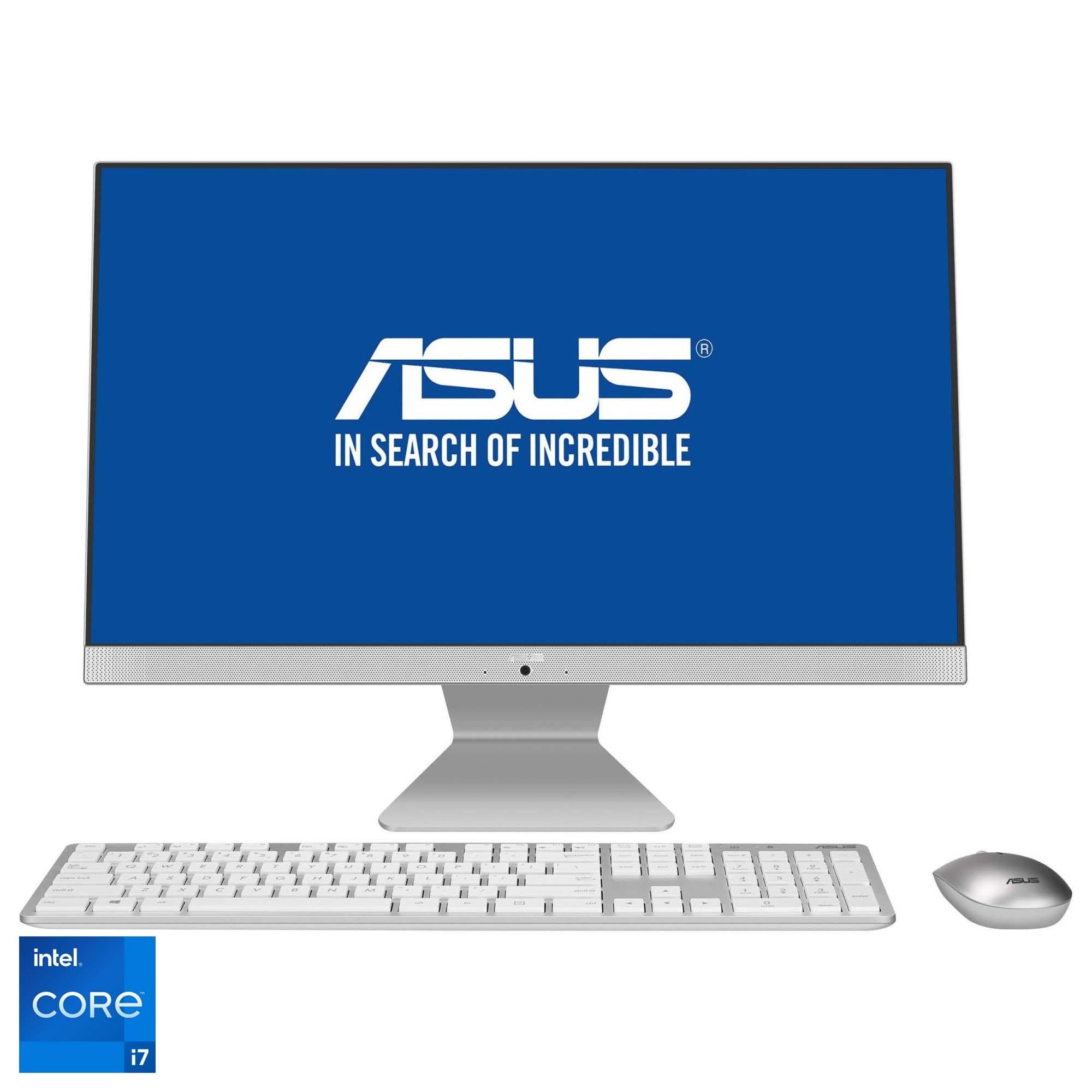 "Fotografie Sistem All-In-One ASUS V241EAK cu procesor Intel® Core™ i7-1165G7 pana la 4.70GHz, Tiger Lake, 23.8"", Full HD, IPS, 16GB DDR4, 512GB SSD, Intel® Iris® Xe Graphics, No OS"