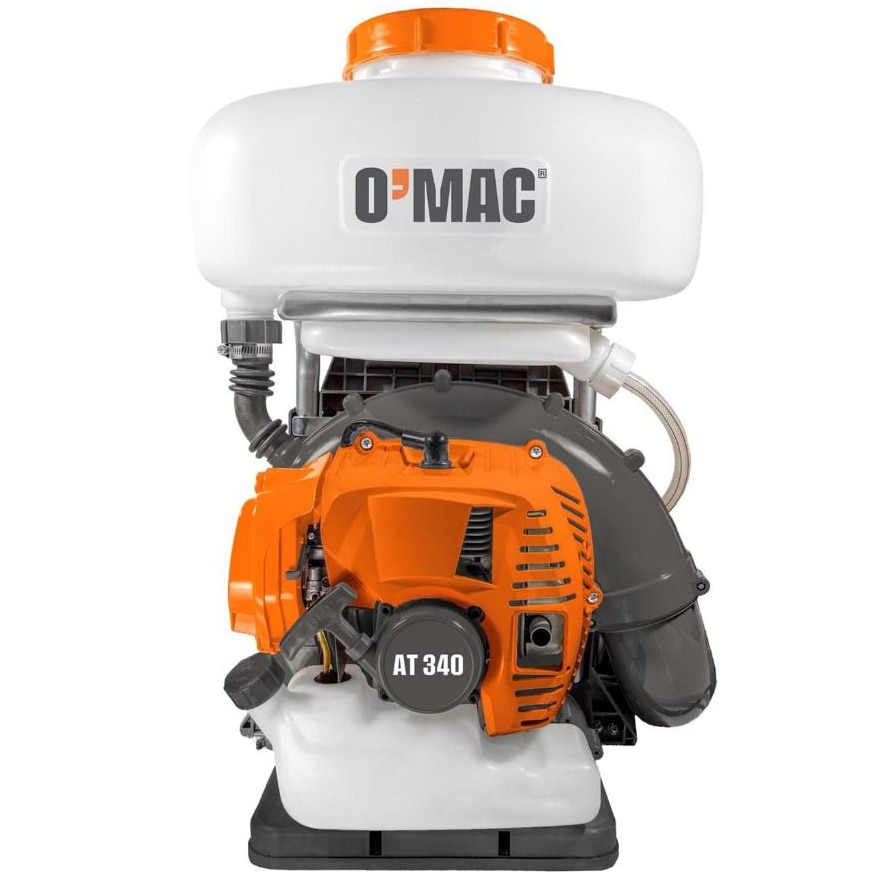 Fotografie Atomizor O-Mac AT 340, 3.4 CP, 2 timpi, 51.7 CC, pompa amorsare, pompa booster, 10 m pulverisare verticala, 12 m pulverizare orizontala, 14 l capacitate rezervor solutie