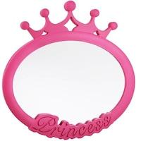 Felis Tükör, Princess, Falra vagy sík felületre, Műanyag keret és állvány, Ovális, 25x25cm, Rózsaszín