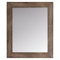 Felis Fali tükör, fa keret, vízszintes és függőleges rögzítés, téglalap alakú, 52x62cm, barna