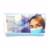 Медицински Маски за лице Cristal, BFE>98%, Type IIR, Еднократна употреба, 20 бр