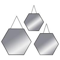Három dekoratív tükör szett, akasztható tükrök