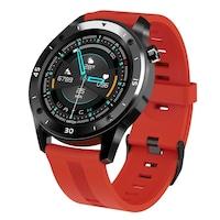 Мъжки, спортен смарт часовник Smart Wear T22R, Пулс, Калории, Кръвно налягане, Мулти спорт, Нотификации, IP67 Водоустойчив, Червен