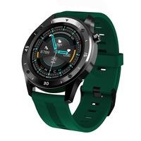 Мъжки, спортен смарт часовник Smart Wear T22R, Пулс, Калории, Кръвно налягане, Мулти спорт, Нотификации, IP67 Водоустойчив, Зелен