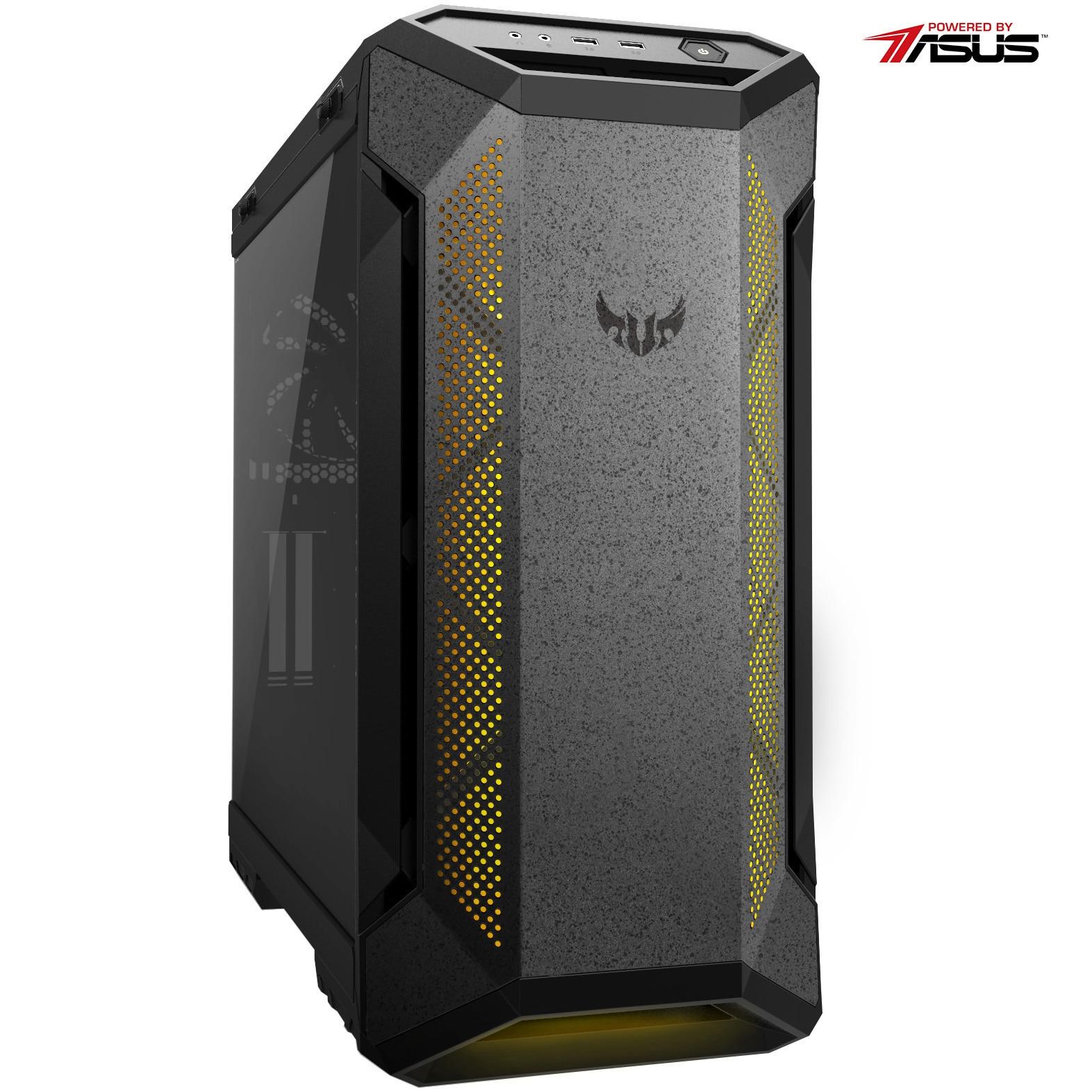 Fotografie Sistem Desktop PC Gaming Serioux Powered by ASUS cu procesor AMD Ryzen™ 5 5600X pana la 4.60GHz, 16GB DDR4, 1TB SSD, GeForce® RTX 3060 12GB GDDR6, Microsoft Windows 10 Home