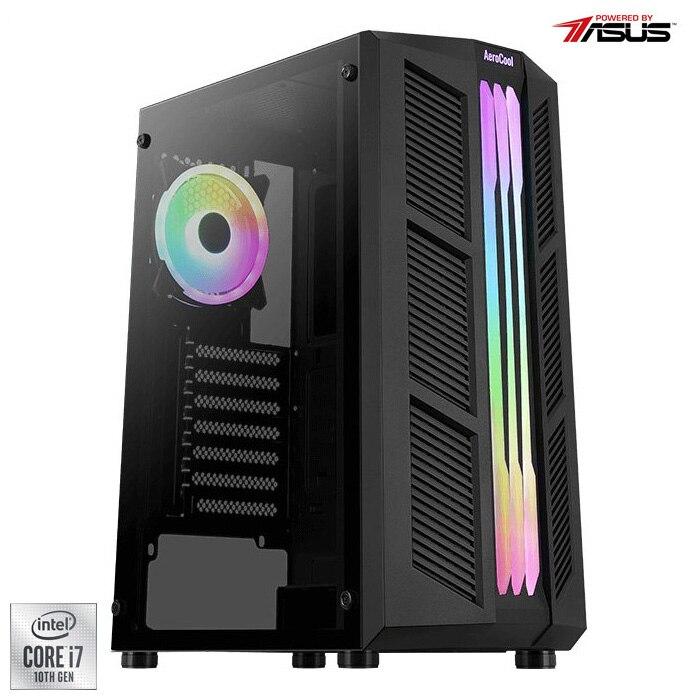Fotografie Sistem Desktop PC Gaming Serioux Powered by ASUS cu procesor Intel® Core™ i7-10700F pana la 4.80GHz, 16GB DDR4, 1TB SSD, GeForce® GTX 1660 Super™ 6GB GDDR6, No OS