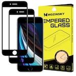 Стъклен протектор Стъклен протектор Wozinsky Tempered Glass Full 2бр. за iPhone SE 2020 / iPhone 8 / iPhone 7 / iPhone 6S / iPhone 6, черен
